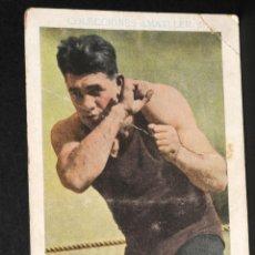 Coleccionismo deportivo: CROMO DE BOXEO PAULINO UZCUDUN- CHOCOLATE AMATLLER. Lote 137875078