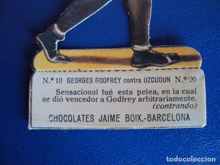 Coleccionismo deportivo: (PA-28)CROMO TROQUELADO BOXEO-JAIME BOIX-GOFREY CONTRA UZCUDUN - Foto 2 - 138205782