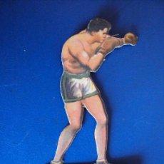 Coleccionismo deportivo: (PA-26)CROMO TROQUELADO BOXEO-CHOCOLATES JAIME BOIX-UZCUDUN CONTRA GEORGES COOK. Lote 138207474