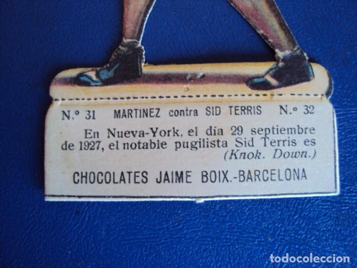 Coleccionismo deportivo: (PA-25)CROMO TROQUELADO BOXEO-CHOCOLATES JAIME BOIX-MARTINEZ CONTRA SIO TERRIS - Foto 2 - 138208542