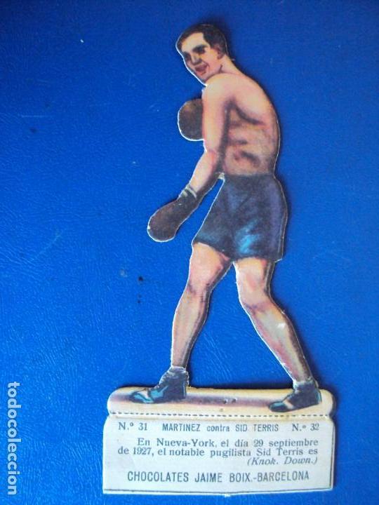 (PA-25)CROMO TROQUELADO BOXEO-CHOCOLATES JAIME BOIX-MARTINEZ CONTRA SIO TERRIS (Coleccionismo Deportivo - Cromos otros Deportes)