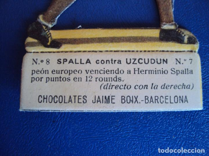 Coleccionismo deportivo: (PA-24)CROMO TROQUELADO BOXEO-CHOCOLATES JAIME BOIX-SPALLA CONTRA UZCUDUN - Foto 2 - 138209062