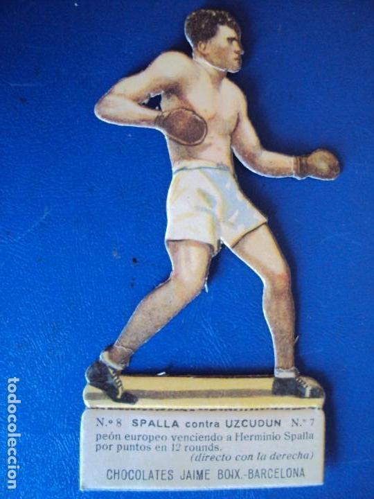 (PA-24)CROMO TROQUELADO BOXEO-CHOCOLATES JAIME BOIX-SPALLA CONTRA UZCUDUN (Coleccionismo Deportivo - Cromos otros Deportes)