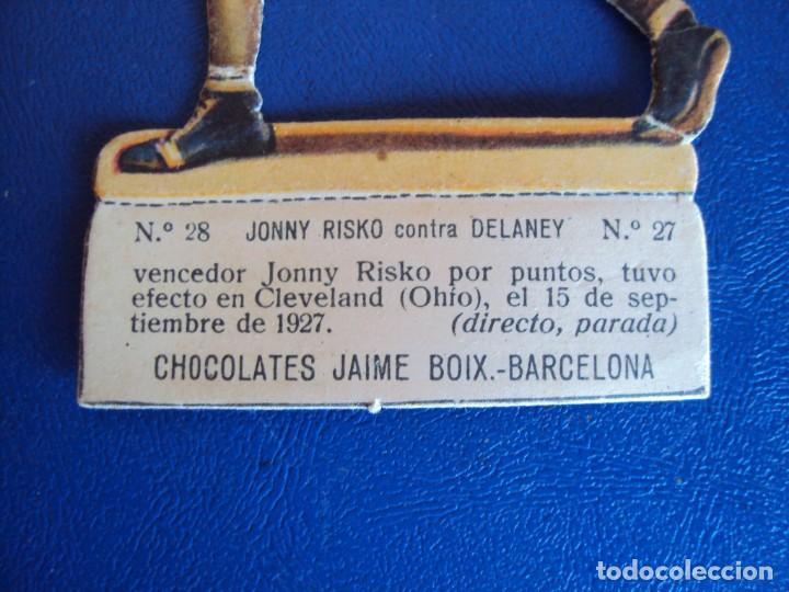 Coleccionismo deportivo: (PA-22)CROMO TROQUELADO BOXEO-CHOCOLATES JAIME BOIX-JOHNY RISKO CONTRA DELANEY - Foto 2 - 138217246
