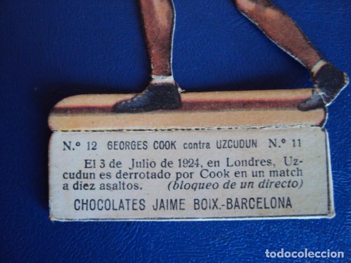 Coleccionismo deportivo: (PA-17)CROMO TROQUELADO BOXEO-CHOCOLATES JAIME BOIX-GEORGES COOK CONTRA UZCUDUM - Foto 2 - 138221074