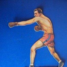 Coleccionismo deportivo: (PA-22)CROMO TROQUELADO BOXEO-CHOCOLATES JAIME BOIX-JOHNY RISKO CONTRA DELANEY. Lote 138217246