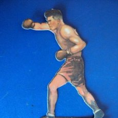 Coleccionismo deportivo: (PA-18)CROMO TROQUELADO BOXEO-CHOCOLATES JAIME BOIX-UZCUDUM CONTRA GEORGES GODFREY. Lote 138220474