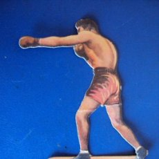 Coleccionismo deportivo: (PA-17)CROMO TROQUELADO BOXEO-CHOCOLATES JAIME BOIX-GEORGES COOK CONTRA UZCUDUM. Lote 138221074