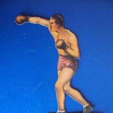 Coleccionismo deportivo: (PA-15)CROMO TROQUELADO BOXEO-CHOCOLATES JAIME BOIX-FRANCK GODDARD CONTRA UZCUDUM. Lote 138222338