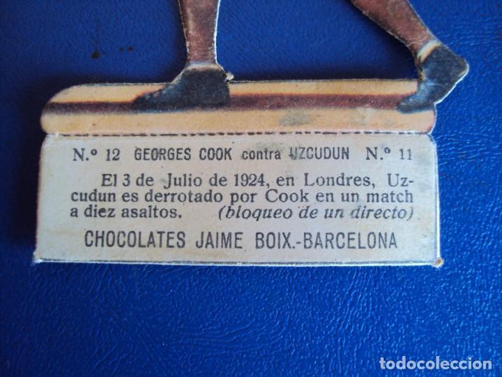Coleccionismo deportivo: (PA-14)CROMO TROQUELADO BOXEO-CHOCOLATES JAIME BOIX-GEORGES COOK CONTRA UZCUDUM - Foto 2 - 138223206