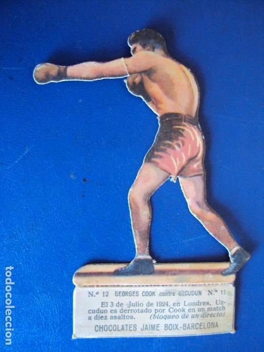 (PA-14)CROMO TROQUELADO BOXEO-CHOCOLATES JAIME BOIX-GEORGES COOK CONTRA UZCUDUM (Coleccionismo Deportivo - Cromos otros Deportes)