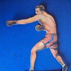 Coleccionismo deportivo: (PA-12)CROMO TROQUELADO BOXEO-CHOCOLATES JAIME BOIX-JOHNY RISKO CONTRA DELANEY. Lote 138224286