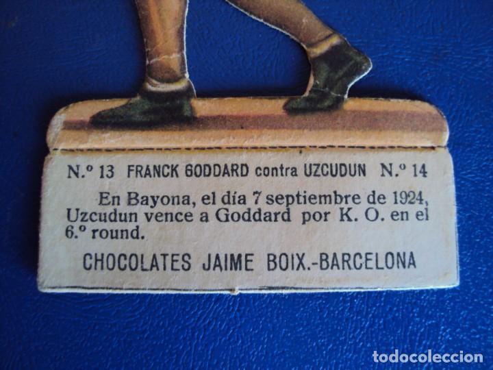 Coleccionismo deportivo: (PA-5)CROMO TROQUELADO BOXEO-CHOCOLATES JAIME BOIX-FRANCK GOODARD CONTRA UZCUDUN - Foto 2 - 138228870