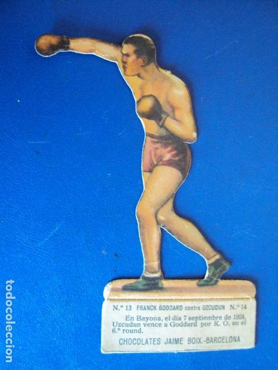 (PA-5)CROMO TROQUELADO BOXEO-CHOCOLATES JAIME BOIX-FRANCK GOODARD CONTRA UZCUDUN (Coleccionismo Deportivo - Cromos otros Deportes)