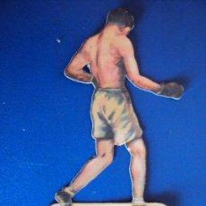 Coleccionismo deportivo: (PA-3)CROMO TROQUELADO BOXEO-CHOCOLATES JAIME BOIX-GILLES CONTRA GIRONES. Lote 138230134