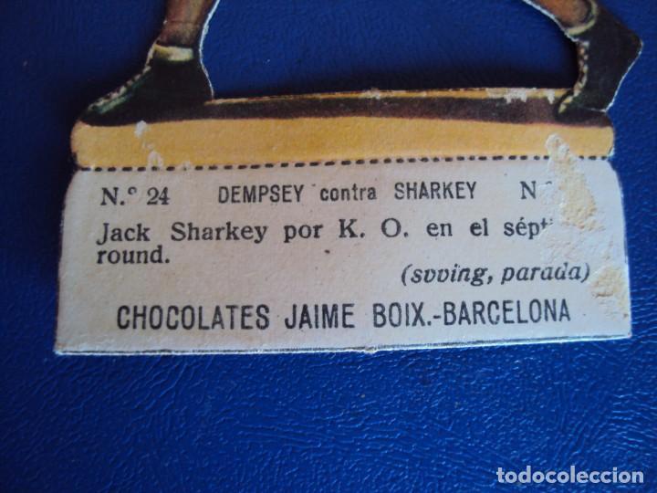 Coleccionismo deportivo: (PA-2)CROMO TROQUELADO BOXEO-CHOCOLATES JAIME BOIX-DEMPSEY CONTRA SHARKEY - Foto 2 - 138230674