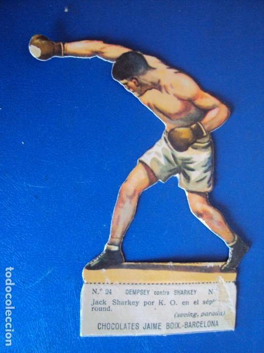 (PA-2)CROMO TROQUELADO BOXEO-CHOCOLATES JAIME BOIX-DEMPSEY CONTRA SHARKEY (Coleccionismo Deportivo - Cromos otros Deportes)