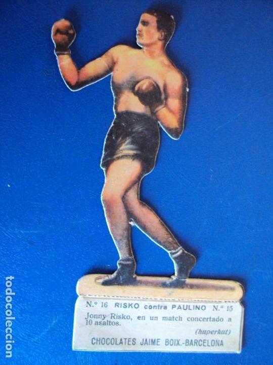 (PA-1)CROMO TROQUELADO BOXEO-CHOCOLATES JAIME BOIX-RISKO CONTRA PAULINO (Coleccionismo Deportivo - Cromos otros Deportes)