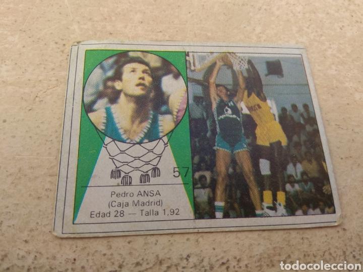 CROMO YOGUR LETONA N°57 BALONCESTO - PEDRO ANSA - CAJA MADRID (Coleccionismo Deportivo - Cromos otros Deportes)