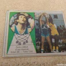 Coleccionismo deportivo: CROMO YOGUR LETONA N°57 BALONCESTO - PEDRO ANSA - CAJA MADRID. Lote 176950109
