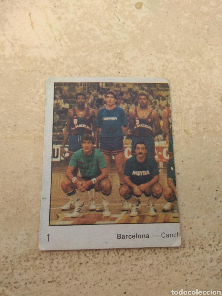 CROMO YOGUR LETONA N°1 - BALONCESTO - BARCELONA (Coleccionismo Deportivo - Cromos otros Deportes)