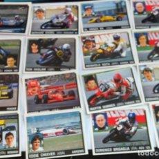 Coleccionismo deportivo: LOTE DE 216 CROMOS MOTOR ADVENTURES COCHES MOTOS EDIT PANINI . Lote 141471494