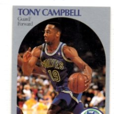 Coleccionismo deportivo: TONY CAMPBELL 185 NBA HOOPS 90-91 MINNESOTA TIMBERWOLVES WOLVES. Lote 142529982