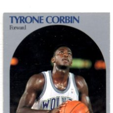Coleccionismo deportivo: TYRONE CORBIN 186 NBA HOOPS 90-91 MINNESOTA TIMBERWOLVES WOLVES. Lote 148279450