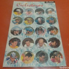 Coleccionismo deportivo: CICLITAZOS, 20 TAZOS DE CICLISTAS COLECCIÓN COMPLETA, AÑOS 90 EL PAIS. Lote 142887708