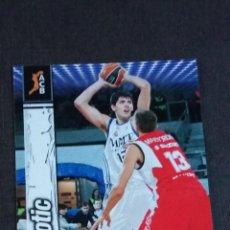 Coleccionismo deportivo: LIGA ACB 2010 2011 - 280 MIROTIC ( REAL MADRID ) - ( ROOKIE CARD ). Lote 142950510