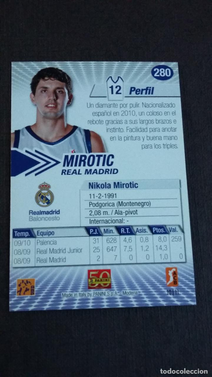 Coleccionismo deportivo: LIGA ACB 2010 2011 - 280 MIROTIC ( REAL MADRID ) - ( ROOKIE CARD ) - Foto 2 - 142950510