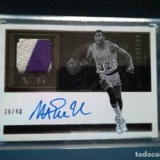 Coleccionismo deportivo: CARD NBA MAGICH JOHNSON FIRMADA Y CON PATCH / LAKERS. Lote 143028094