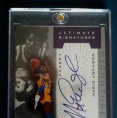 Coleccionismo deportivo: CARD NBA MAGICH JOHNSON FIRMADA / LAKERS. Lote 143028630