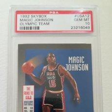 Coleccionismo deportivo: CARD MAGIC JOHNSON DREAM TEAM BARCELONA '92 PSA 10. Lote 143029402