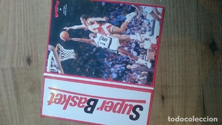 Coleccionismo deportivo: Pegatina grande Spud Webb 6 atlanta hawks gigantes del basket superbasket xl sticker nueva trasera - Foto 2 - 144476234