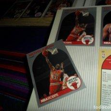 Coleccionismo deportivo: CON MARK JACKSON Y 2 CARDS DE MICHAEL JORDAN, 2 ARCHIVADORES CON 570 CARDS NBA HOOPS 1990 90.. Lote 145199222
