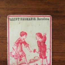 Coleccionismo deportivo: CROMO DE CROQUET - SIGLO XIX - FÁBRICA LICORES DULCES CONSERVAS PARENT HERMANOS BARCELONA. Lote 145249822