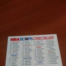 Coleccionismo deportivo: CHECKLIST 328 NBA HOOPS 91-92. Lote 145417686