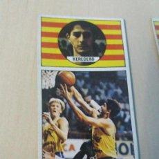 Coleccionismo deportivo: BALONCESTO ED. MERCHANTE 1986 1987 CROMO Nº30 HEREDERO CACAOLAT BUEN ESTADO. Lote 178309255