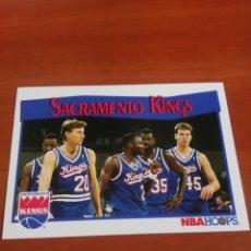 Coleccionismo deportivo: SACRAMENTO KINGS 296 NBA HOOPS 91-92. Lote 146269622