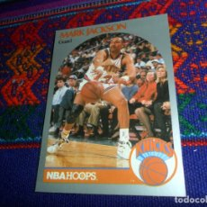 Coleccionismo deportivo: MURDERERS LYLE & ERIK MENENDEZ TRADING CARD MARK JACKSON NBA HOOPS 90 Nº 205 KNICKS NEW YORK.. Lote 147492574