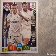 Coleccionismo deportivo: 252 BALE BENZEMA DÚOS IMPARABLES REAL MADRID ADRENALYN XL PANINI 2018 2019 18 19. Lote 148082426