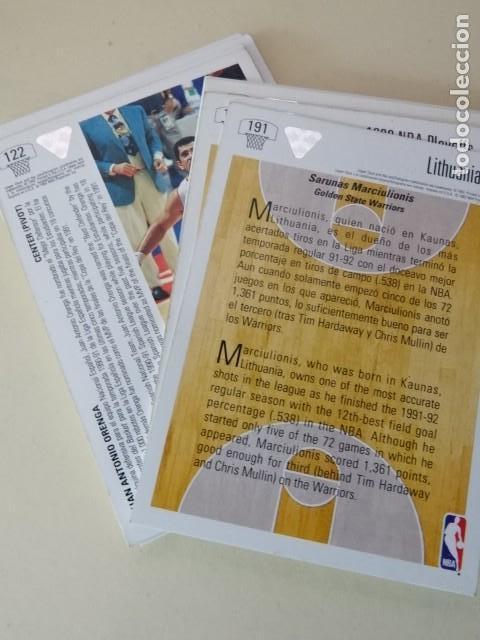 Coleccionismo deportivo: Lote 17 CROMOS UPPER DECK Premier NBA Euro edition Basketball collector album 91-92 1992 - Foto 2 - 148788366