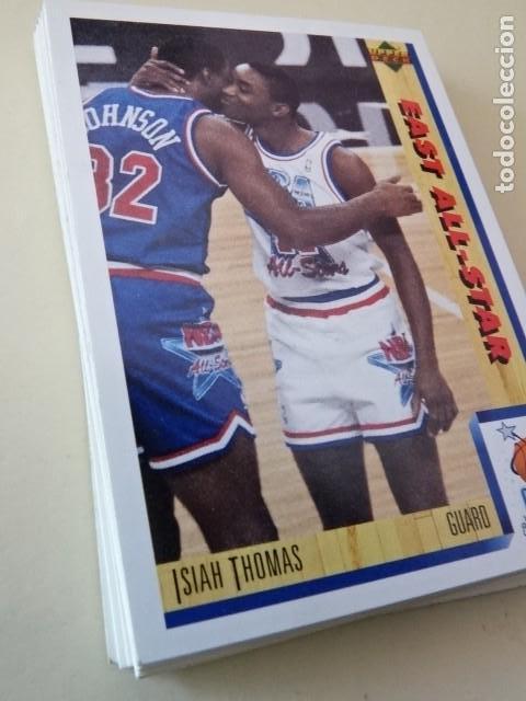 LOTE 17 CROMOS UPPER DECK PREMIER NBA EURO EDITION BASKETBALL COLLECTOR ALBUM 91-92 1992 (Coleccionismo Deportivo - Cromos otros Deportes)
