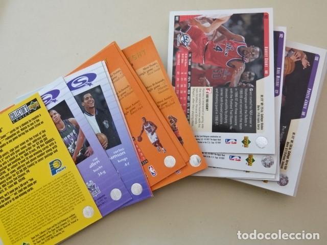 Coleccionismo deportivo: Lote 35 CROMOS UPPER DECK NBA Basketball collector album 97-98 1998 - Foto 2 - 148789086
