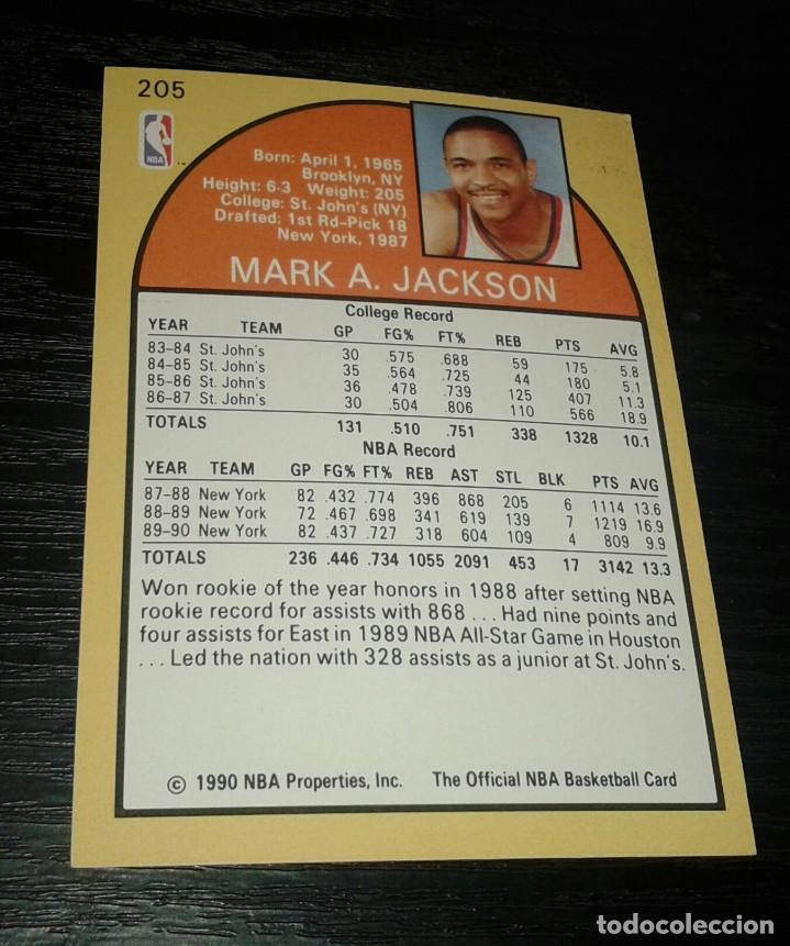 Coleccionismo deportivo: -NBA HOOPS 90-91 : 205 MARK JACKSON ( NEW YORK KNICKS ) HERMANOS MENENDEZ - Foto 2 - 149376162