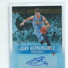 Coleccionismo deportivo: ESPAÑOLES NBA : AUTOGRAFO ORIGINAL JUANCHO HERNANGOMEZ PANINI 2017. DENVER NUGGETS. Lote 149585326