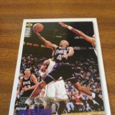 Coleccionismo deportivo: SPUD WEBB 44 NBA UPPER DECK VERSIÓN USA 95/96 SACRAMENTO KINGS. Lote 151371765