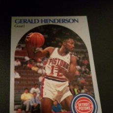 Coleccionismo deportivo: GERALD HENDERSON 106 NBA HOOPS 90/91 DETROIT PISTONS. Lote 152061302