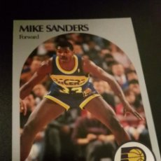 Coleccionismo deportivo: MIKE SANDERS 137 NBA HOOPS 90/91 INDIANA PACERS. Lote 152061338